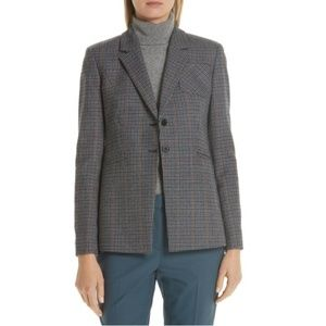 Nordstrom Signature Elbow Patch Plaid Blazer